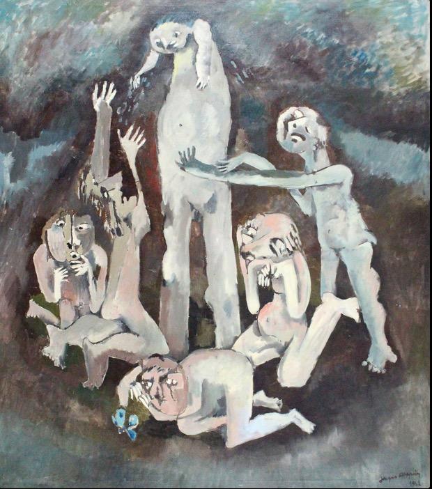 1962 - Personnage touchant le ciel avec sa tête